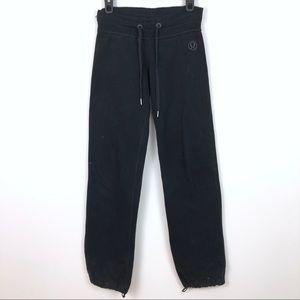 Lululemon Thick Black Cotton Drawstring Sweatpants